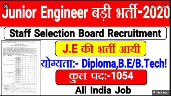 राजस्थान जूनियर इंजीनियर के कुल 1054 पदों पर भर्ती